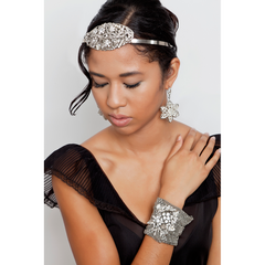 Midnight Menagerie Mesh Cuff Bracelet