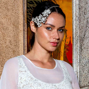 Cascading Floral Heirloom Headpiece