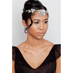 One-Of-A-Kind Perennial Blossom Ribbon Heirloom Crown Tiara Headpiece