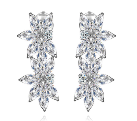 Marquise Splendor Diamontage Earrings
