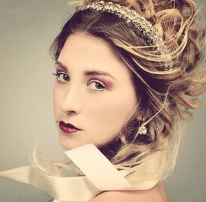 One-Of-A-Kind Love's Union Tiara Headpiece Sash