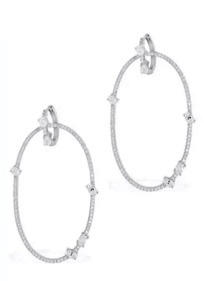 Diamontage Double Hoop Earrings