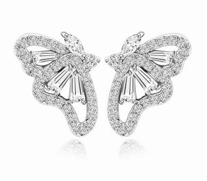 Petite Butterfly Diamontage™ 4 Carat Earrings