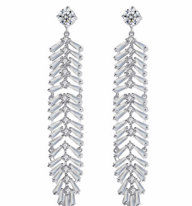 Baguette Leaf Diamontage™ 9.85 Carat Earrings