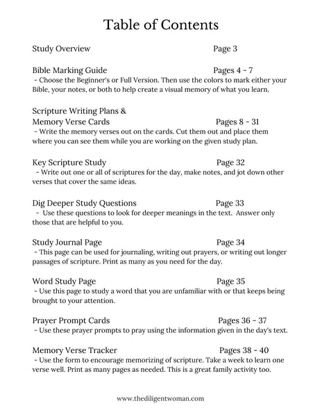 Words on My Heart - 12 month Scripture Writing Kit #2
