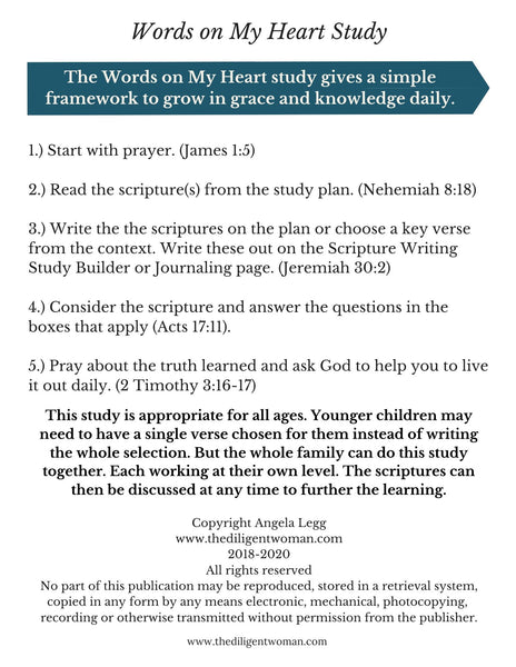 Scripture Writing Mini Kit #3 - Sound Words, Self-Control, Salvation