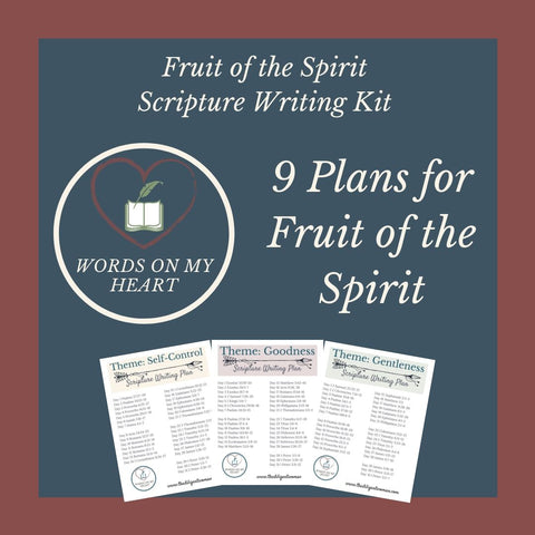 Fruit of the Spirit 9-month Scripture Writing Kit