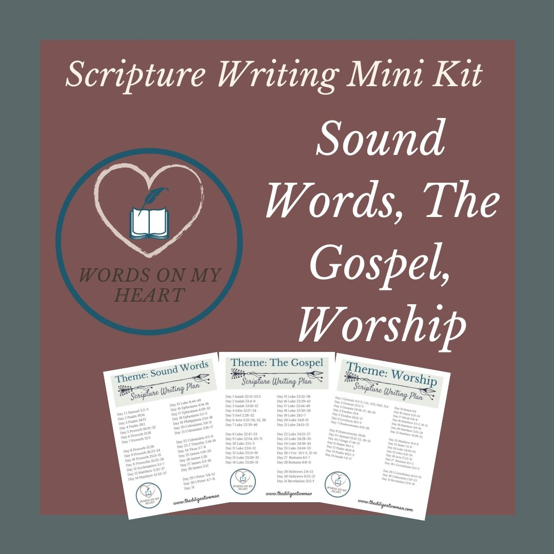 Scripture Writing Mini Kit #4 - The Gospel, Sound Words, and Worship