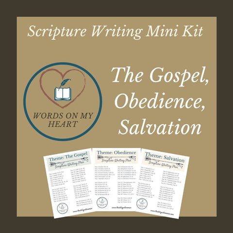 Scripture Writing Mini Kit #5 - The Gospel, Obedience, and Salvation