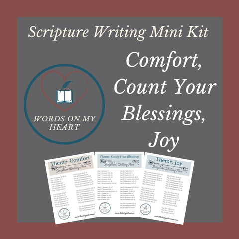 Scripture Writing Mini Kit #7 - Count Your Blessings, Comfort, and Joy