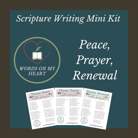 Scripture Writing Mini Kit #8 - Prayer, Peace, and Renewal