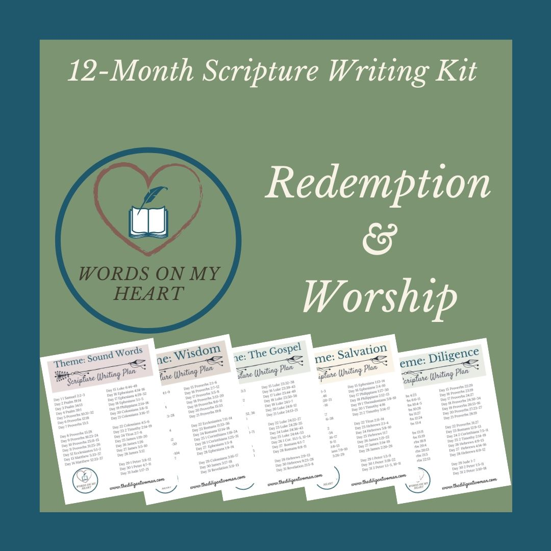 Words on My Heart - 12 month Scripture Writing Kit #3