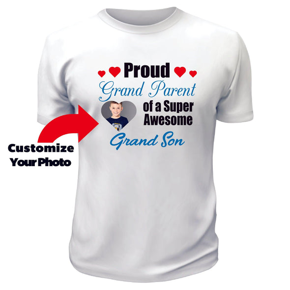 Proud Grand Parent of a Super Awesome Grandson TShirt