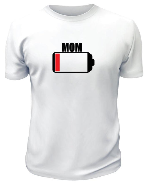 Low on Battery Mom TShirt - Printwell Custom Tees