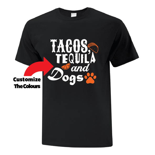 Tacos Tequila and Dogs TShirt