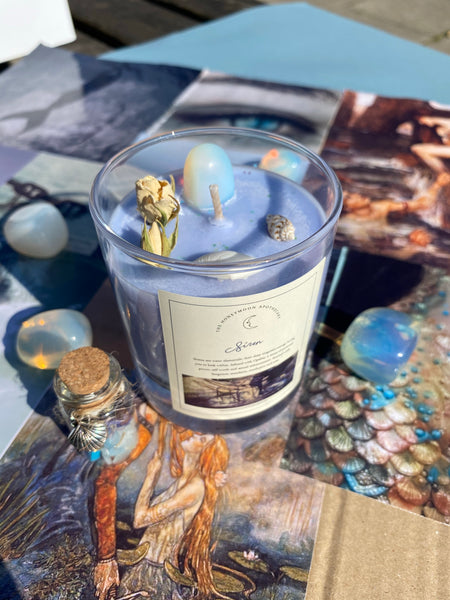 SIREN Water Element Candle WITH Spell Jar