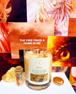 PHOENIX Fire Element Candle WITH Spell Jar