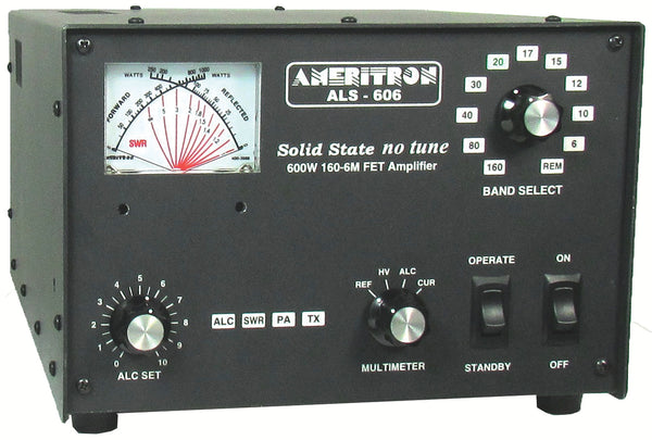 ALS-606S, AMPLIFIER, HF+6M, 600W, SOLID STATE,W/SWITCHING PS