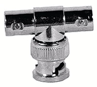 MFJ-7761, CONNECTOR, BNC MALE TO 2 FEMALE, T