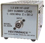 DL-650M, IT, DUMMY LOAD, 1500W, 0-650 MHz
