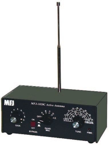 MFJ-1020C, ANTENNA, SWL INDOOR ACTIVE ANTENNA