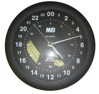MFJ-105D, CLOCK, 24 HOUR ANALOG QUARTZ WALL CLOCK