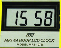 MFJ-107B, CLOCK, LCD 24 HOUR, SINGLE CLOCK
