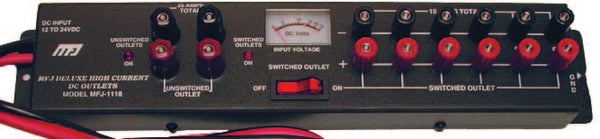 MFJ-1118, HIGH CURRENT DC MULTI-OUTLET