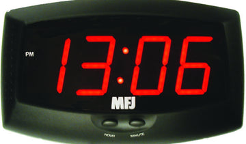 MFJ-117, LED CLOCK,2.5~,DISP 24 OR 12 HR,110 VAC,BAT.BACKUP
