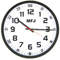 MFJ-126B, CLOCK, 24/12 HOUR, QUARTZ ANALOG WALL CLOCK