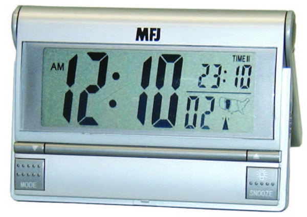 MFJ-133RC, ATOMIC CLOCK, DUAL TIME, 12/24