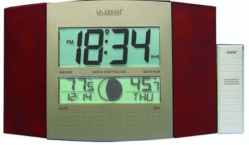 MFJ-134RC, LCD CLOCK, RC, CAL/TEMP/IN/OUT, MOONPHASE, REMOTE