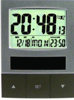 MFJ-136RC, ATOMIC CLOCK, SOLAR, BACK LT, 24/12, CALENDAR