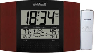 MFJ-144RC, LCD CLOCK, RC, CAL/TEMP/IN/OUT, WEATHER, REMOTE
