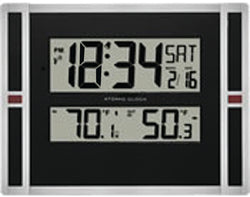 MFJ-155RC, LCD CLOCK, RC, CAL/TEMP/IN/OUT,WITH REMOTE SEN.
