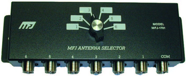 MFJ-1701, ANTENNA SWITCH, 6 POSITIONS, 2 kW PEP