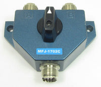 MFJ-1702C, ANTENNA SWITCH, 2 POS. W/LIGHTNING PROTECTOR