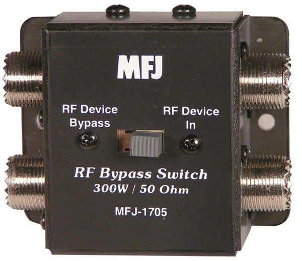 MFJ-1705, RF BYPASS SWITCH, DC-60 MHz, 300W