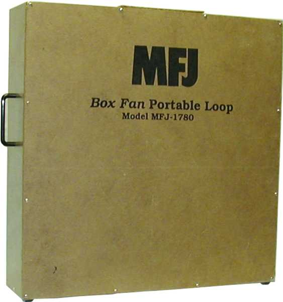 MFJ-1780, BOX FAN PORTABLE LOOP ANTENNNA, 14-30 MHz