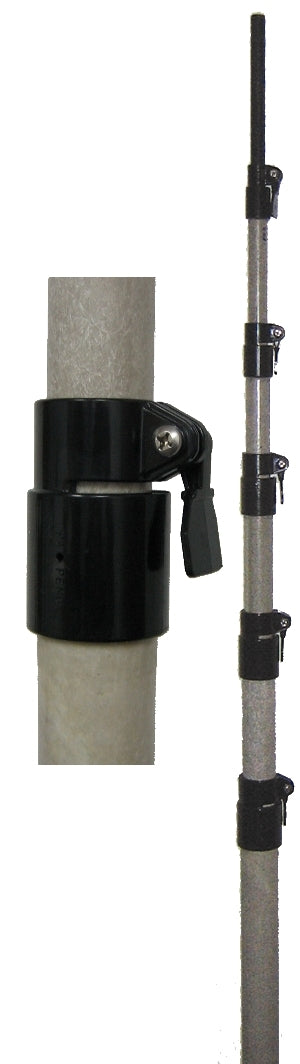 MFJ-1906H, FIBERGLASS POLE, 33FT, 6FT/SEC, QUICKCLAMPS