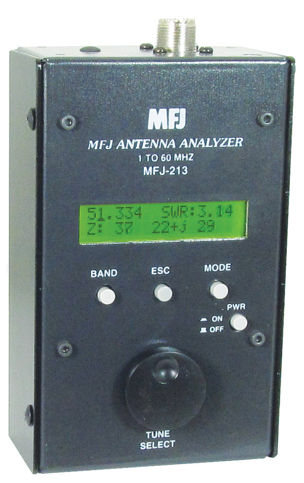 MFJ-213, HF/6M. 1.8-60MHz ANTENNA ANALYZER