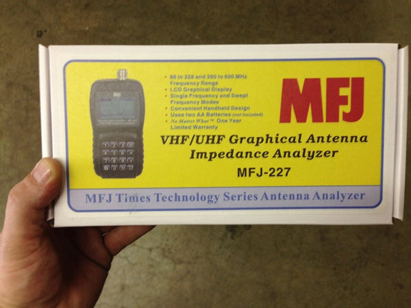 MFJ-227, VHF/UHF,88-226,330-500 MHz,GRAPHIC VNA ANT.ANALYZER