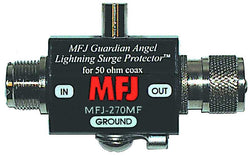 MFJ-270MF, LIGHTNING PROTECTOR, SO-239/PL259, 400 W PEP
