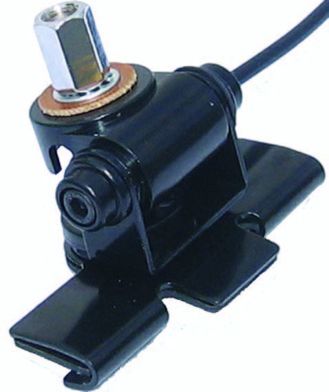 MFJ-345T, TRUNK LIP MOUNT, 3/8-24 STUB, WITH CABLE