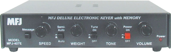 MFJ-407E, KEYER, DELUXE ELECTRONIC KEYER WITH MEMORY