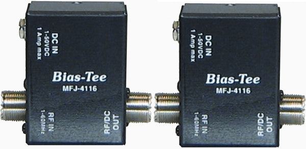 MFJ-4116P, 2-BIAS TEE DC POWER INJECTOR, 1-50 VDC, 1A