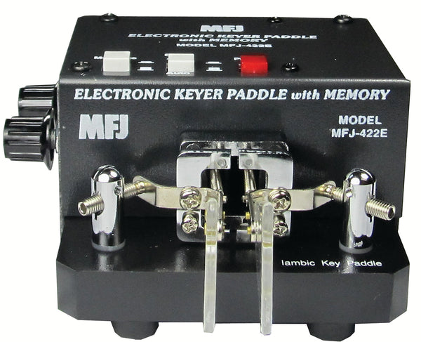 MFJ-422E, KEYER, MFJ PADDLE, COMBO, WITH MEMORY, BLACK