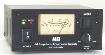 MFJ-4230MV, COMPACT SWITCH PS, METER, 4-16V ADJ. 110/220VAC