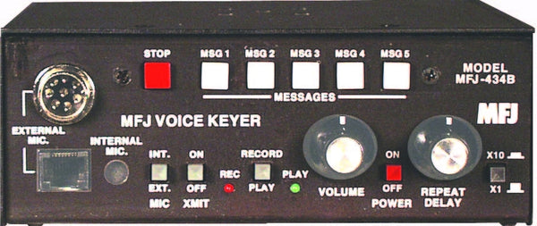 MFJ-434B, DELUXE VOICE KEYER, 8PIN ROUND AND MOD. PLUG