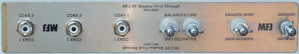 MFJ-4602, WINDOW ANT FEEDTHRU PANEL